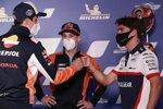 Alex Marquez (Honda), Pol Espargaro (KTM) und Albert Arenas (Aspar)