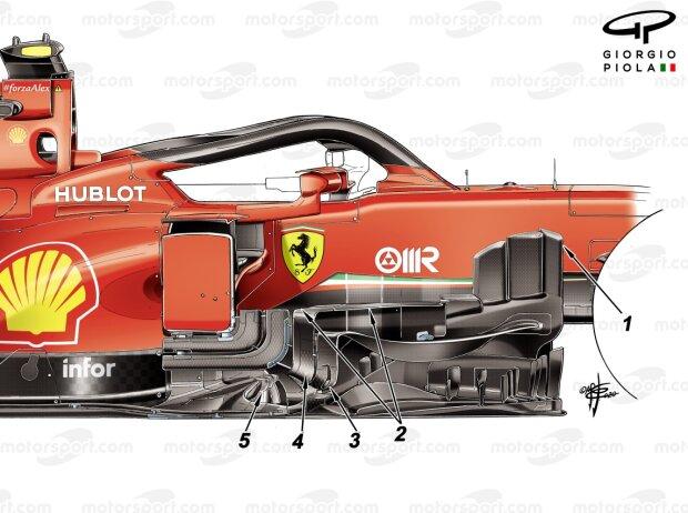 Ferrari-Updates 2020: Windabweiser