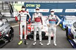 Ferdinand Habsburg (WRT ), Rene Rast (Rosberg-Audi) und Robin Frijns (Abt-Audi)