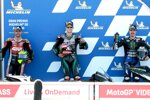 Fabio Quartararo (Petronas), Maverick Vinales (Yamaha) und Cal Crutchlow ()