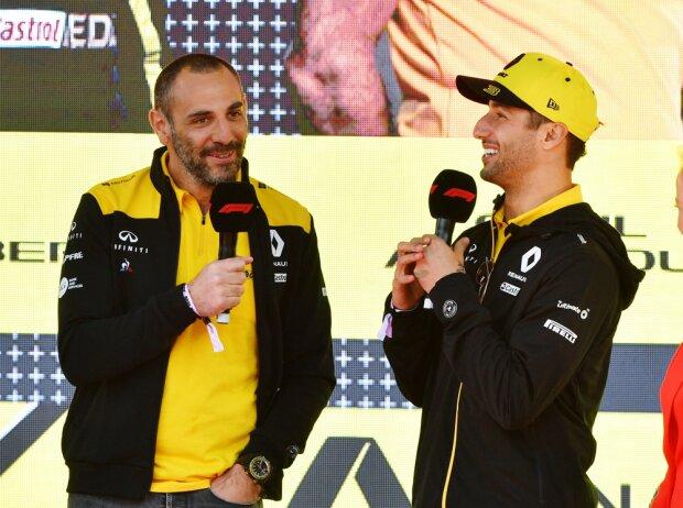 Nico Hülkenberg, Cyril Abiteboul, Daniel Ricciardo