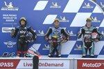 Sam Lowes (Marc VDS), Marco Bezzecchi (VR46) und Fabio Di Giannantonio (Speed Up)