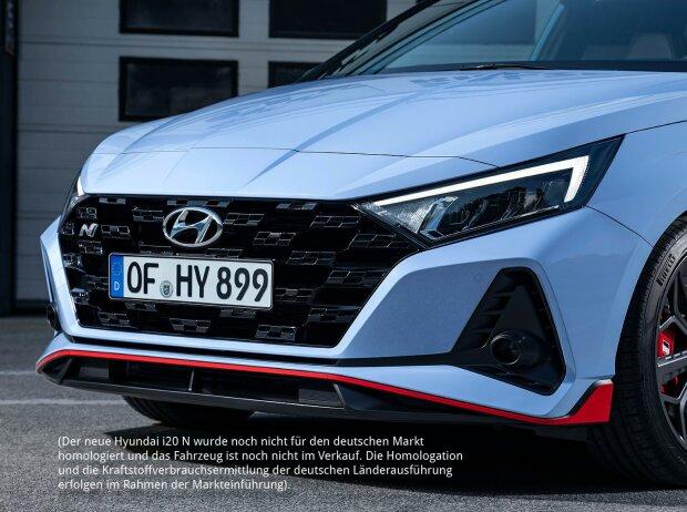 Die Frontansicht des Hyundai i20 N 2020