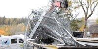 Beschädigter Zaun nach Unfall in Spa