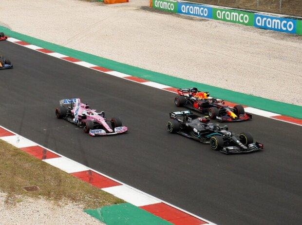 Valtteri Bottas, Max Verstappen, Sergio Perez, Carlos Sainz