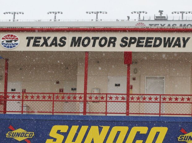 Regen am Texas Motor Speedway in Fort Worth