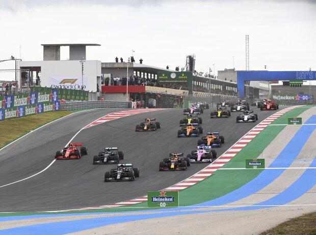 Lewis Hamilton, Valtteri Bottas, Max Verstappen, Charles Leclerc, Sergio Perez