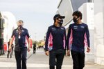 Otmar Szafnauer, Sergio Perez (Racing Point) und Lance Stroll (Racing Point)