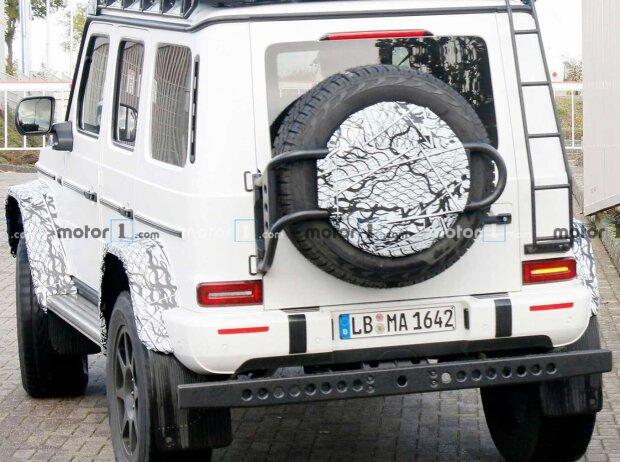 Mercedes G 4x4 Quadrat (2021) als Erlkönig erwischt