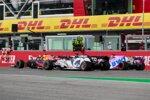 Alexander Albon (Red Bull), Daniil Kwjat (AlphaTauri) und Sergio Perez (Racing Point)