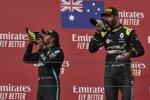 Lewis Hamilton (Mercedes) und Daniel Ricciardo (Renault)