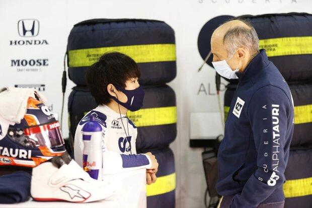 Franz Tost Yuki Tsunoda AlphaTauri AlphaTauri F1 ~Franz Tost und Yuki Tsunoda ~