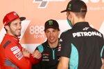 Andrea Dovizioso (Ducati), Franco Morbidelli (Petronas) und Fabio Quartararo (Petronas)