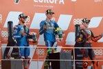 Joan Mir (Suzuki), Alex Rins (Suzuki) und Pol Espargaro (KTM)