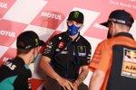 Fabio Quartararo (Petronas), Maverick Vinales (Yamaha) und Pol Espargaro (KTM)