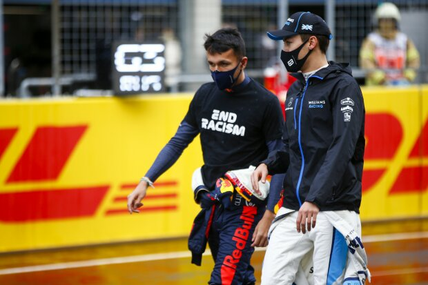 Alexander Albon George Russell Red Bull Red Bull F1Williams Williams F1 ~Alexander Albon (Red Bull) und George Russell (Williams) ~