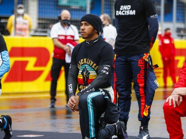 Lando Norris, Lewis Hamilton, Max Verstappen, Sebastian Vettel