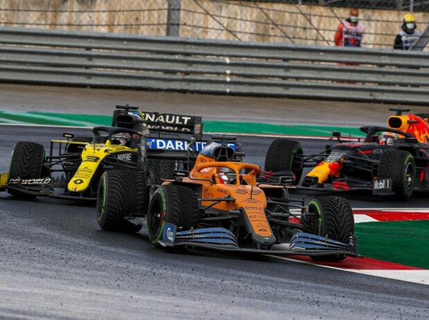 Carlos Sainz, Daniel Ricciardo, Max Verstappen