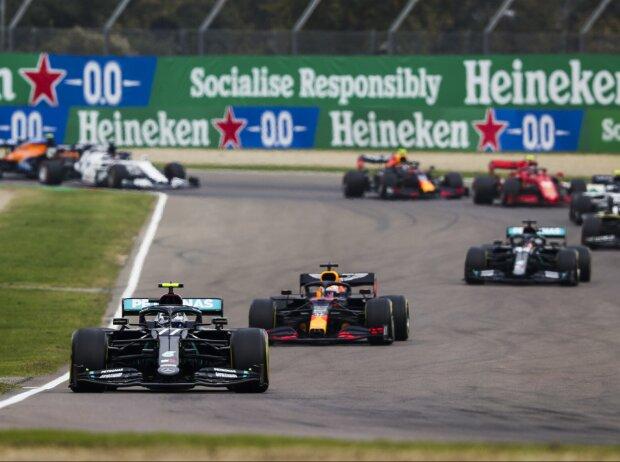 Valtteri Bottas, Max Verstappen, Lewis Hamilton, Daniel Ricciardo