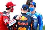 Andrea Dovizioso (Ducati), Brad Binder (KTM) und Joan Mir (Suzuki)