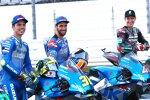 Joan Mir (Suzuki), Alex Rins (Suzuki) und Fabio Quartararo (Petronas)