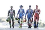 Franco Morbidelli (Petronas), Joan Mir (Suzuki), Alex Rins (Suzuki) und Andrea Dovizioso (Ducati)