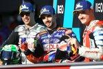 Miguel Oliveira (Tech 3), Franco Morbidelli (Petronas) und Jack Miller (Pramac)