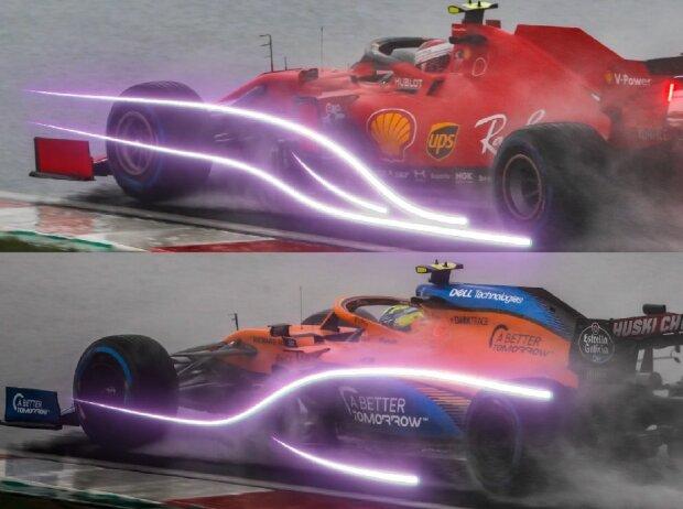 Aerodynamik-Vergleich: Ferrari vs. McLaren