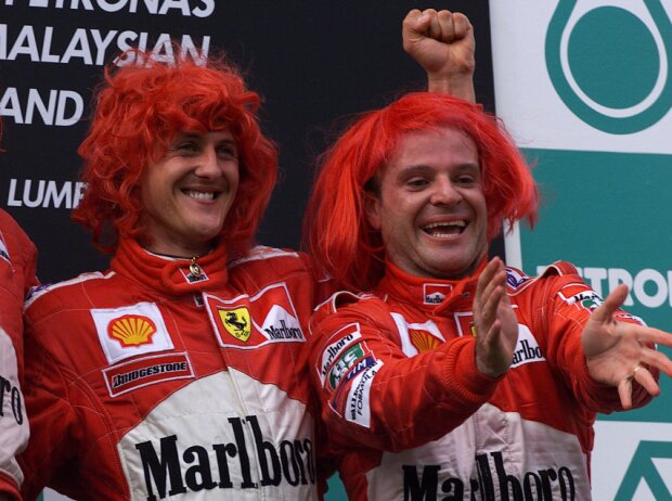 Michael Schumacher, Rubens Barrichello, Ross Brawn