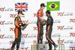 Felipe Drugovich (MP Motorsport), Callum Ilott (Virtuosi) und Jehan Daruvala (Carlin)