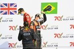 Jehan Daruvala (Carlin), Felipe Drugovich (MP Motorsport) und Callum Ilott (Virtuosi)