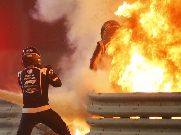 Romain Grosjean, Feuer