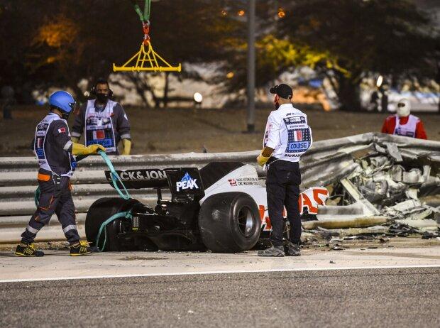 Unfall von Romain Grosjean