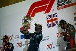Max Verstappen (Red Bull), Lewis Hamilton (Mercedes) und Alexander Albon (Red Bull)