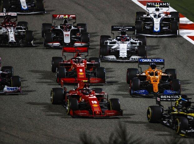 Daniel Ricciardo, Charles Leclerc, Carlos Sainz, Sebastian Vettel, Daniil Kwjat, Kevin Magnussen, Nicholas Latifi