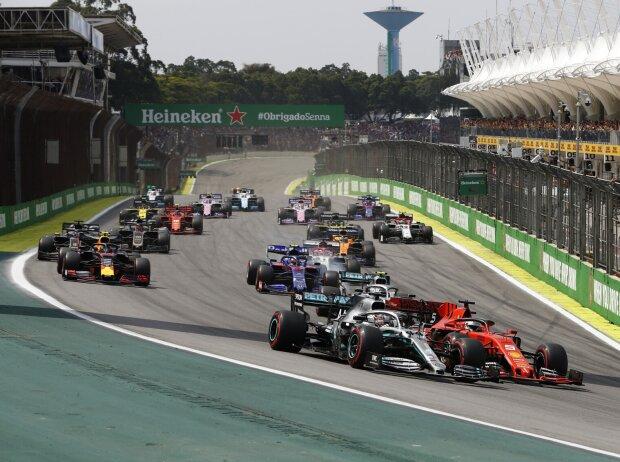 Lewis Hamilton, Sebastian Vettel, Valtteri Bottas, Alexander Albon, Pierre Gasly