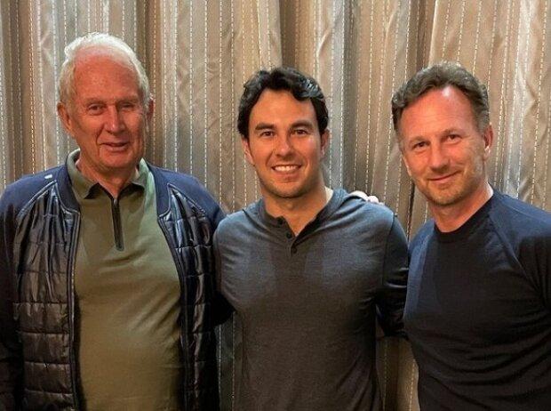 Helmut Marko, Sergio Perez, Christian Horner