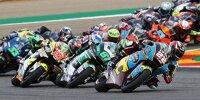 Start zum Moto2-Rennen 2020 im Motorland Aragon in Alcaniz