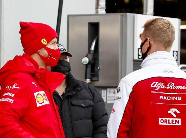 Sebastian Vettel, Mick Schumacher, Toto Wolff