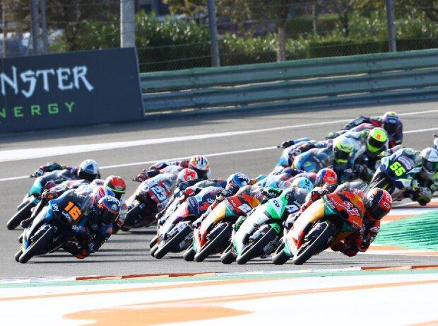 Start zum Moto3-Rennen 2020 in Valencia
