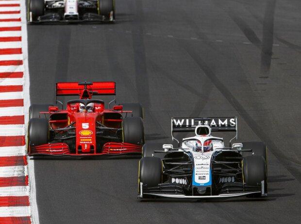 George Russell, Sebastian Vettel, Antonio Giovinazzi