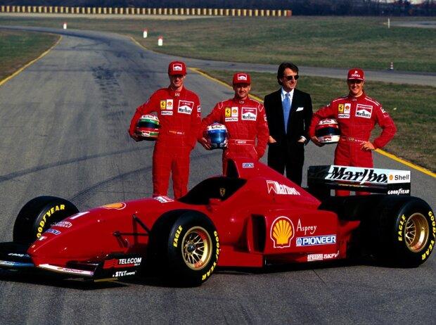 Nicola Larini, Luca di Montezemolo, Michael Schumacher