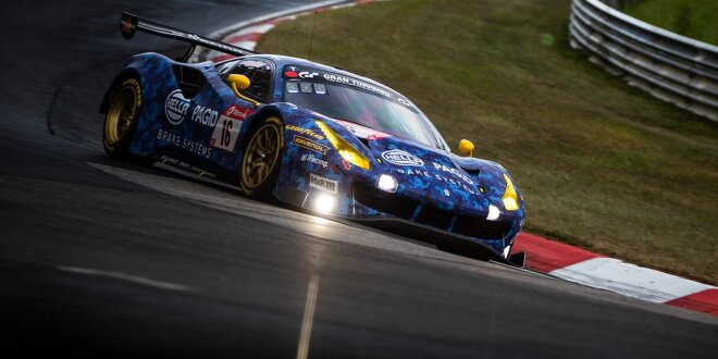 Racing One Mit Blauem Ferrari 488 Gt3 In Die Dtm