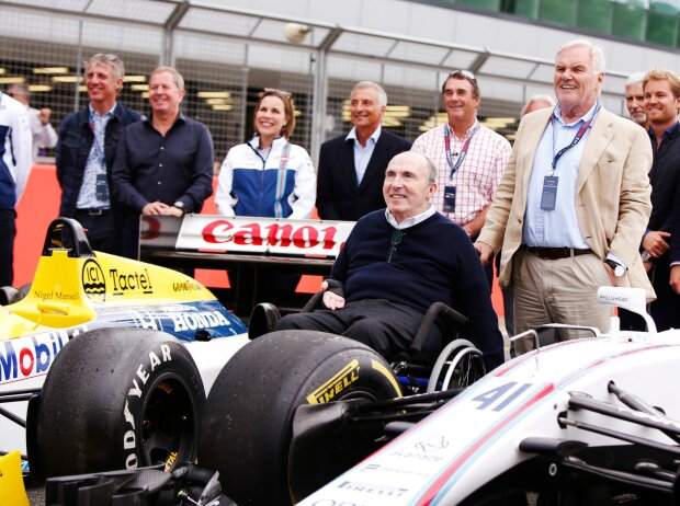 Paul di Resta, Claire Williams, Riccardo Patrese, Frank Williams, Nigel Mansell, Patrick Head, Nico Rosberg, David Coulthard