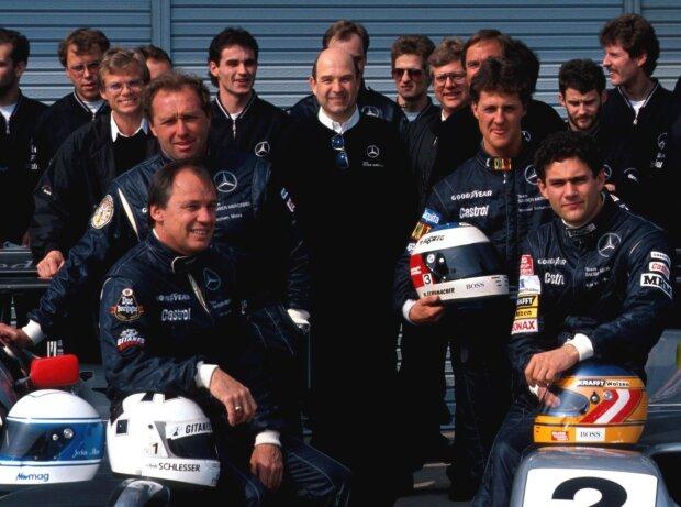 Karl Wendlinger, Michael Schumacher, Peter Sauber
