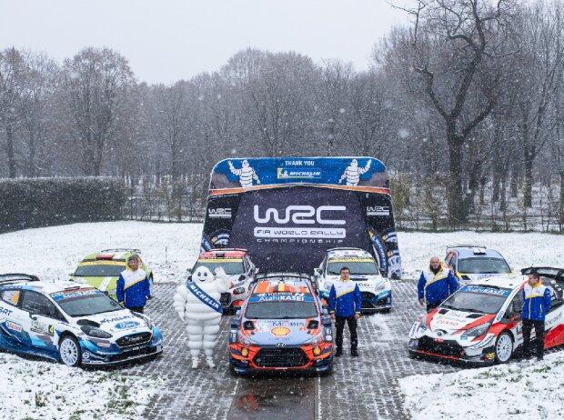 Gruppenfoto: Teams der Rallye-WM 2020