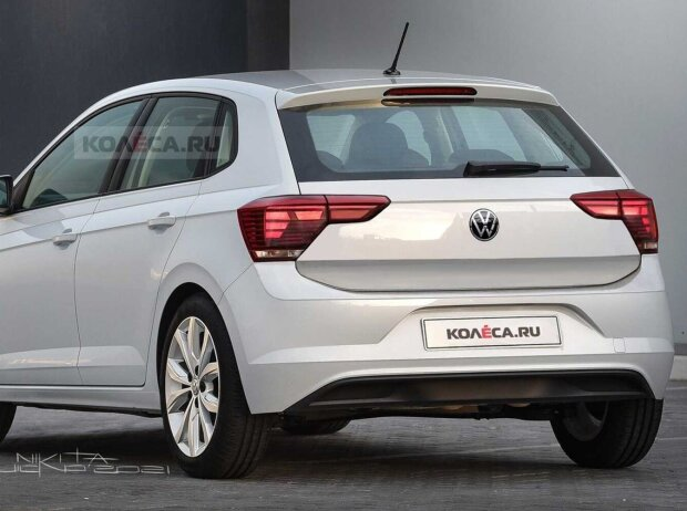 VW Polo 2021: Facelift-Rendering