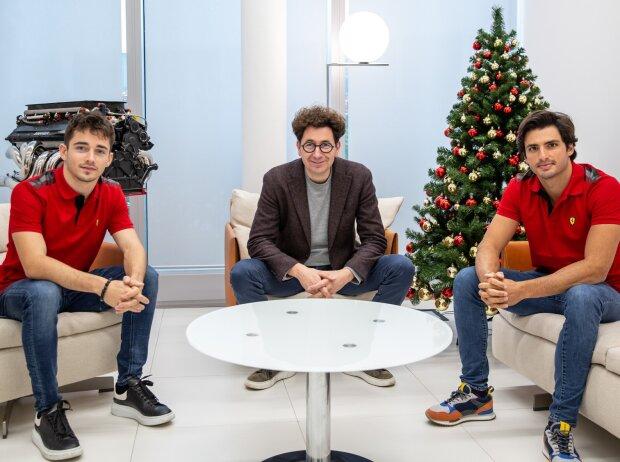 Carlos Sainz, Charles Leclerc, Mattia Binotto
