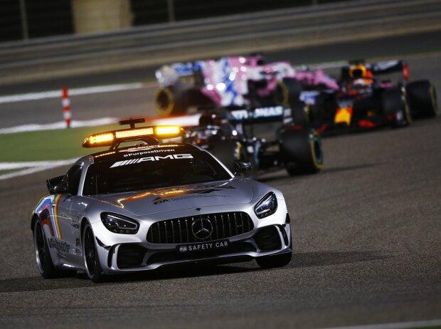Lewis Hamilton, Max Verstappen, Sergio Perez, Safety-Car