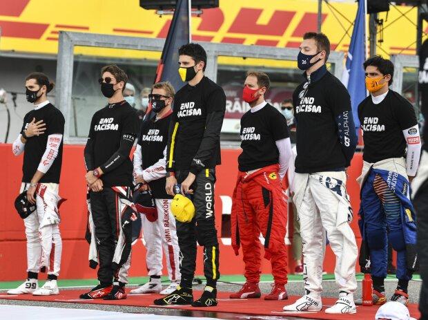 Antonio Giovinazzi, Romain Grosjean, Esteban Ocon, Daniil Kwjat